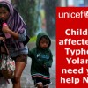 UNICEF is now accepting donations for Yolanda victims