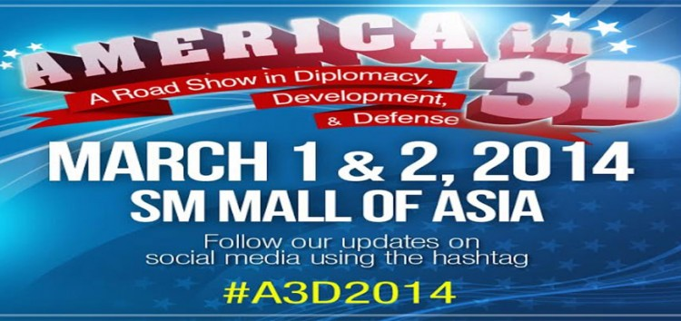 US Embassy Manila brings America in 3D on March 1 & 2 at the SM Mall of Asia
