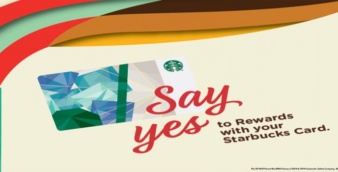 Say Yes to Rewards with your Starbucks Card!