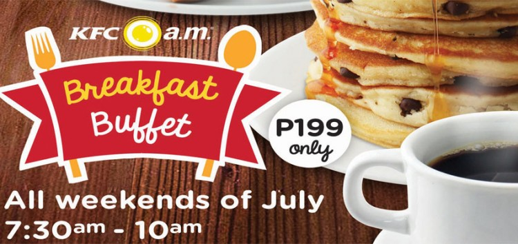 Morning can be so good with KFC's Breakfast Buffet for only Php 199