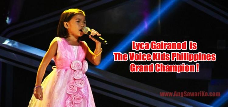 Lyca Gairanod is The Voice Kids Philippines Grand Champion