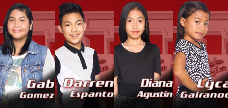 Sarah Geronimo brings Gab, Darren, Diana and Lyca to Sing-Offs of The Voice Kids Philippines