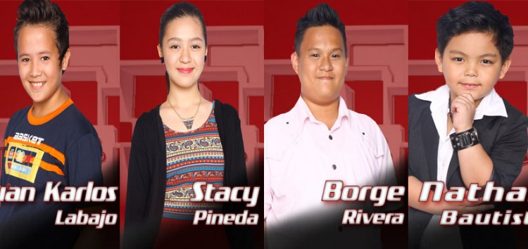 Bamboo takes Juan Karlos, Stacey, Borge and Nathan to the Sing-Offs of The Voice Kids Philippines