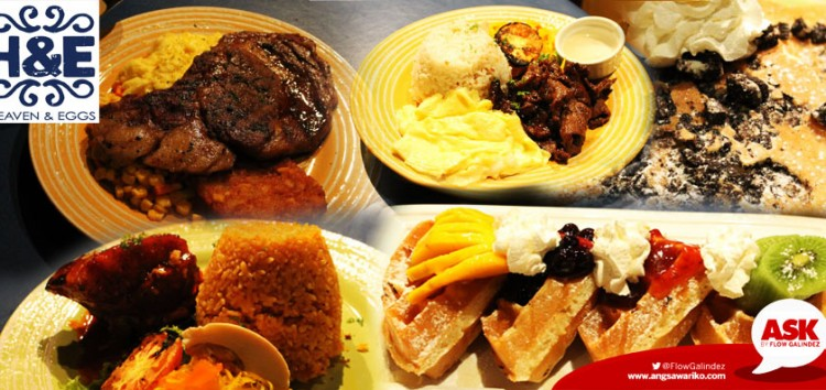 Heaven & Eggs offers your favorite comfort foods all-day long in Glorietta 4