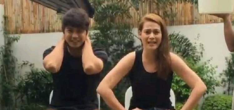 Celebrity couple Bea Alonzo and Zanjoe Marudo accepted the ALS Ice Bucket Challenge from the KathNiel