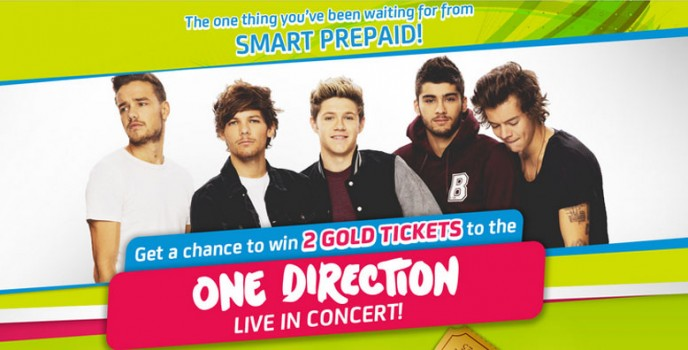 "SMART Prepaid will give away ""Gold Tickets"" for the One Direction Live in Manila Concert on 2015"