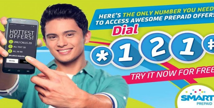 James Reid is SMART Prepaid's latest endorser promoting the *121# menu