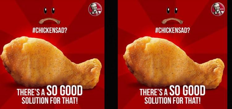 """KFC sees #ChickenSad a """"So Good"""" marketing strategy"""