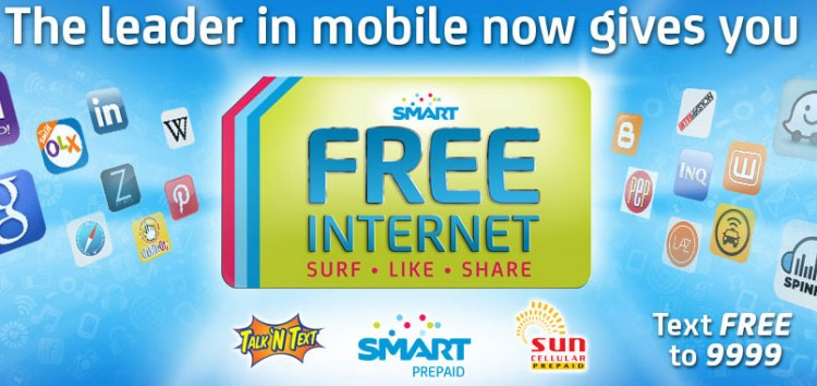 4 things YOU can DO with the Free Mobile Internet of SMART, Sun and TNT