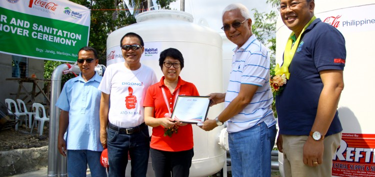Coca-Cola and Habitat for Humanity unite in bringing clean and safer water system in 2 towns in Bohol