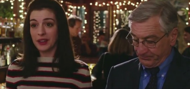 Robert De Niro and Anne Hathaway tandem in the comedy film The Intern