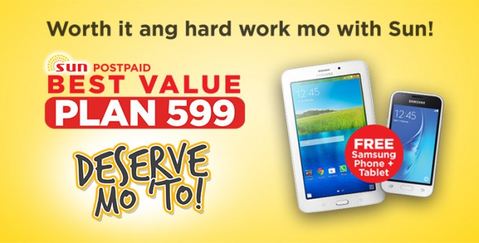 Samsung J1 Mini and Tab 3Vi are available for free in SUN Postpaid Best Value Plan 599