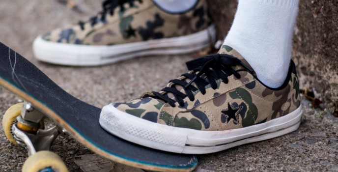 Be ready to any kind battle with the Converse Cons One Star Pro Camo