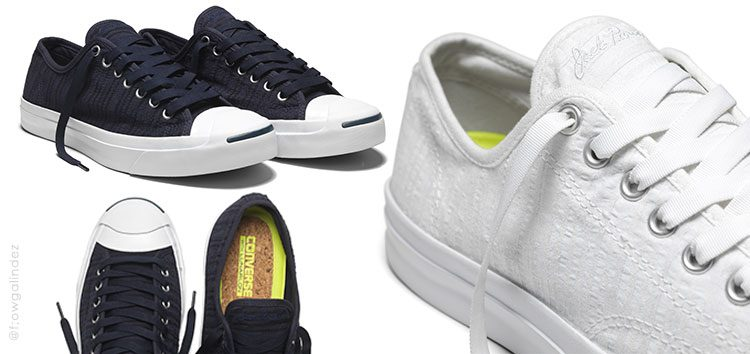The promise of comfort in the new Converse Jack Purcell Remastered in Seersucker