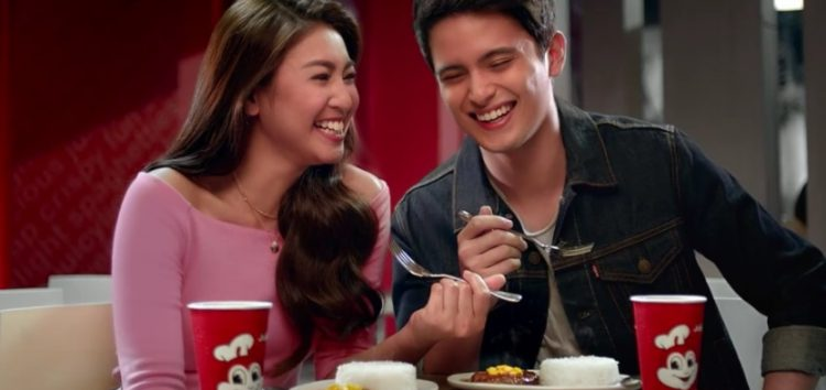 JaDine fell in love with the new Jollibee Sweet-Spicy BBQ Burger Steak