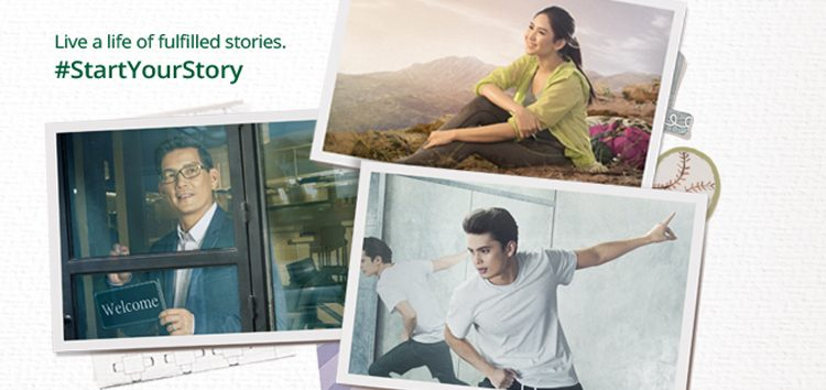 "Sarah Geronimo, James Reid and Richard Yap frontline Manulife's ""Start Your Story"" campaign"