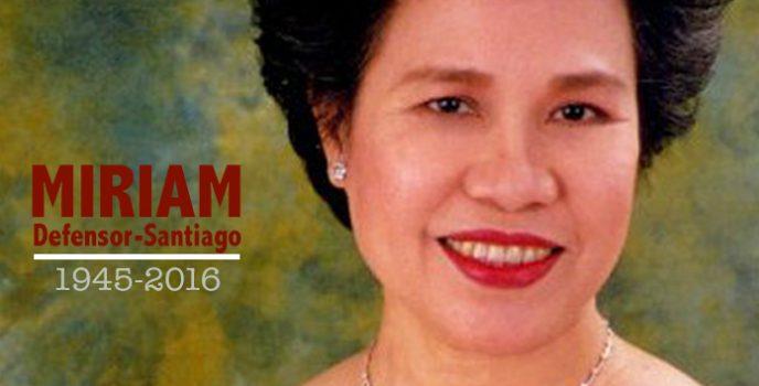 Former senator Miriam Defensor-Santiago passes away