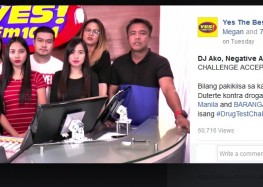 Yes FM DJs challenges Easy Rock and Barangay LS FM to do the #DrugTestChallenge