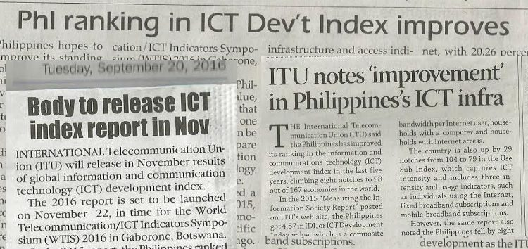 Foreign indexes notice improvement on Philippine's ICT performance