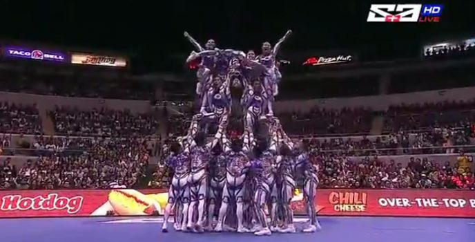 National University Pep Squad  gets four-peat championship at the UAAP Cheer Dance Competition