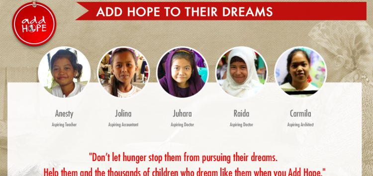 "KFC Philippines, WFP ""Add Hope"" to 60, 000 kids in conflict-affected areas in Mindanao"