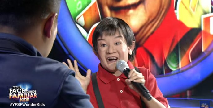 Awra Briguela transforms to Yoyoy Villame in week 4 of Your Face Sounds Familiar: Kids
