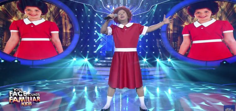 "Singer and songwriter Ogie Alcasid transforms to ""Annie"" in Your Face Sounds Familiar: Kids"