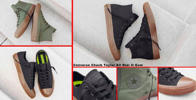 Enjoy comfort and classic style in Converse Chuck Taylor All Star II Gum
