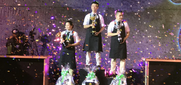 Rafael Miguel Bautista wins the Starbucks Philippines' 1st Barista Championship