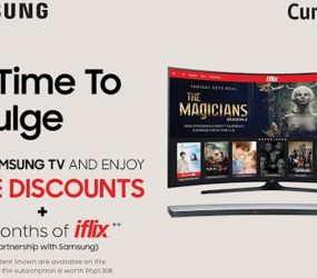 """Enjoy up to 47% discount in Curved TVs in Samsung's """"It's Time to Indulge"""" Women's Month Promo"""