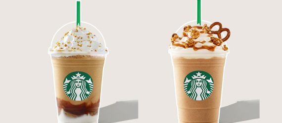 Beat the summer heat with the refreshing sweetness of Starbucks Pop'zel and S'mores Frappes