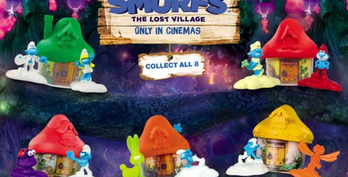 McDonald's brings you in the magical world of the Smurfs in every Happy Meal
