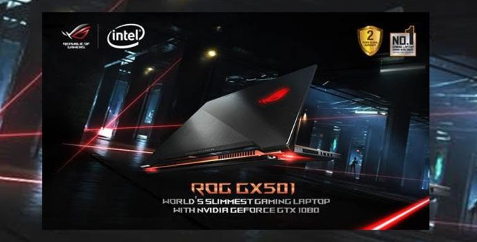 ROG Zephyrus GX501: ASUS Republic of Gamers' most powerful and ultra-slim gaming notebook