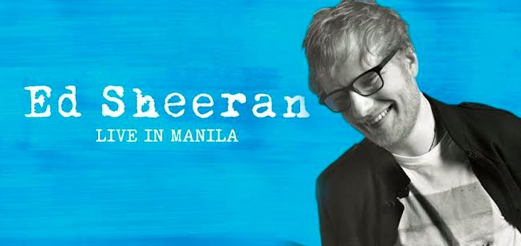 "Tickets for ""Ed Sheeran's Live in Manila Concert"" on Nov 7 to be available on June 10"