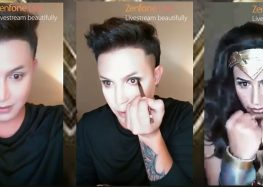 """Paolo Ballesteros unleashes """"Wonder Woman"""" in his make-up transformation with ASUS Zenfone Live"""