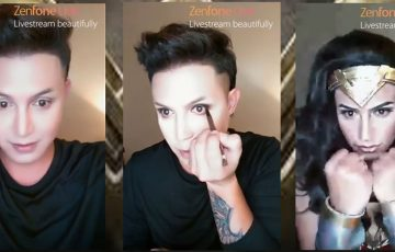 "Paolo Ballesteros unleashes ""Wonder Woman"" in his make-up transformation with ASUS Zenfone Live"