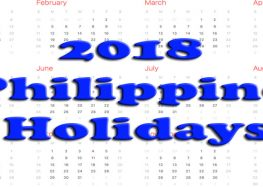 List of 2018 holidays in the Philippines