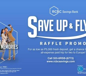 Get Your Dream European Vacation with RCBC Savings Bank's Save Up and Fly Promo