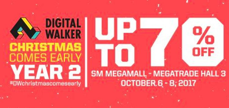 12 deals that will excite you at Digital Walker's Christmas Comes Early Sale on Oct 6-8