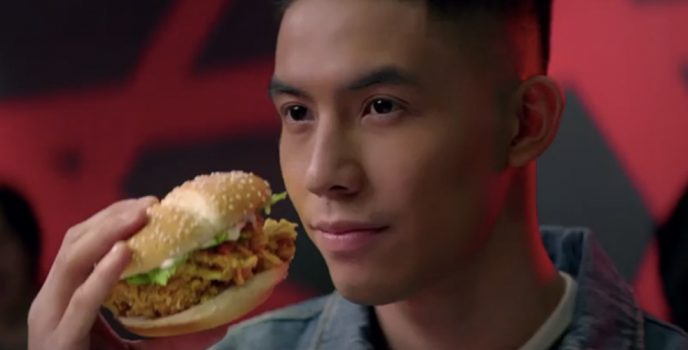 Tony Labrusca is out for new love in the latest McDonald's McSpicy TVC
