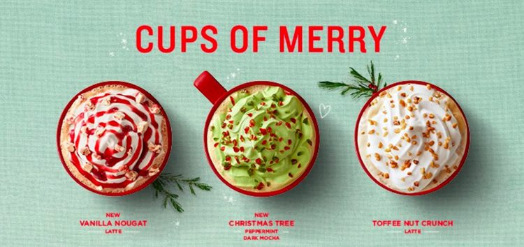 Enjoy the sweetness of Holiday Season with Starbucks' Christmas beverages