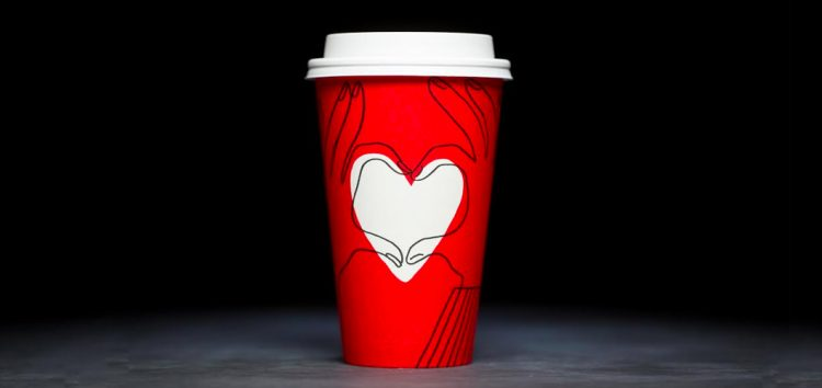 Spread the love with the iconic Starbucks red cups!