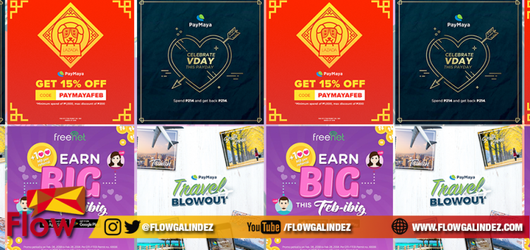 Experience special digital offers this Valentine's Day with PayMaya, Freenet and Takatack