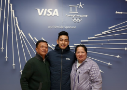Visa Winner Meets Visa Team Athlete Michael Martinez at the Olympic Winter Games Pyeongchang 2018