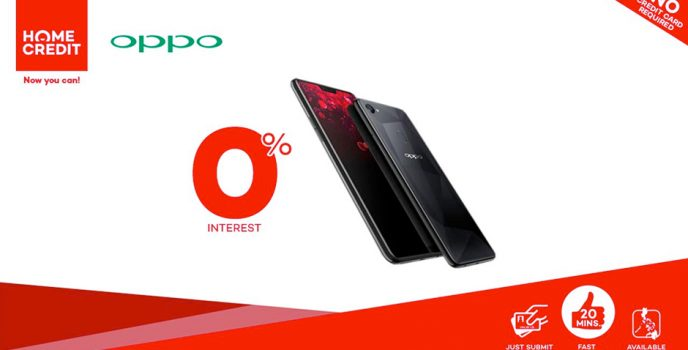 OPPO F7 is now available in 9 month installments at 0% interest rate in Home Credit!