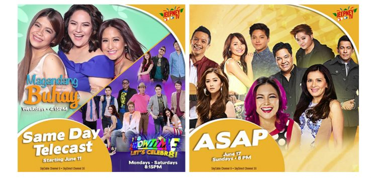 Catch-up with It's Showtime, Magandang Buhay and ASAP same day on Jeepney TV starting June 11
