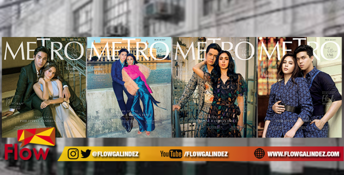 "Kapamilya loveteams MayWard, ElNella, JoshLia & McLisse grace Metro Mag's ""Metro Loves Manila"" June cover"