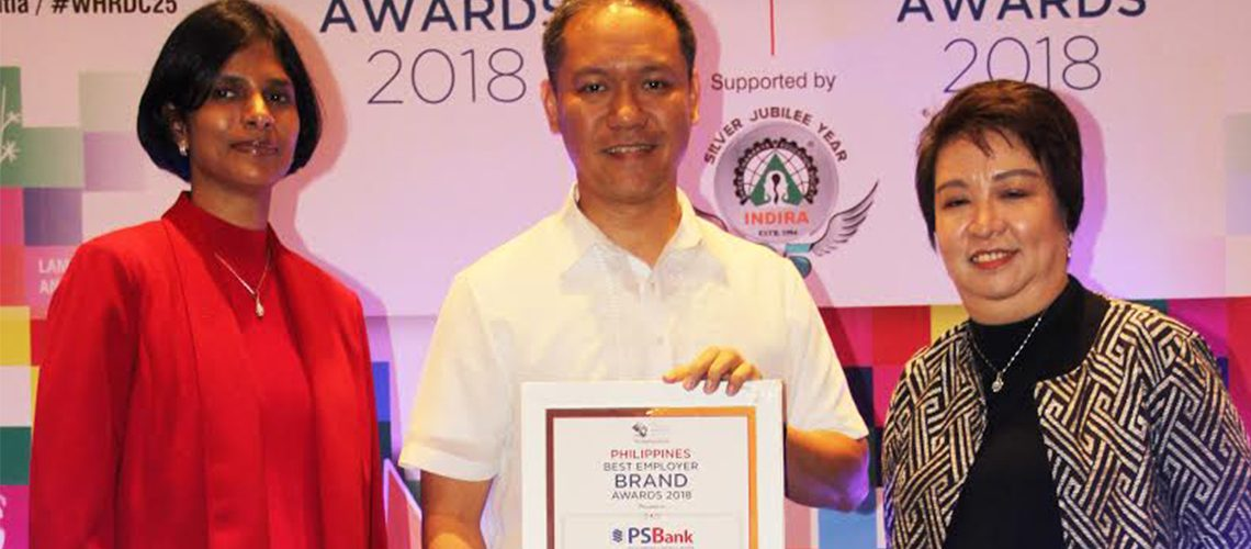 """PSBank named """"Philippines' Best Employer Brand"""" at the 1stBest Employer Brand Awards"""
