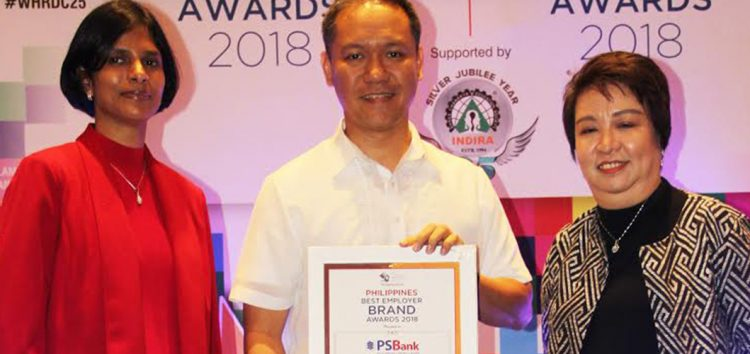 "PSBank named ""Philippines' Best Employer Brand"" at the 1st Best Employer Brand Awards"