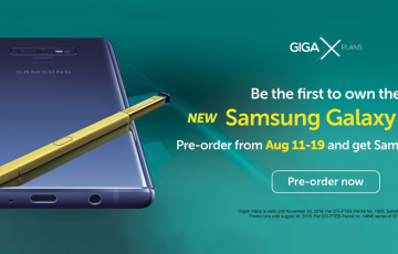 Get up to Php18k worth of Samsung freebies when you pre-order Samsung Galaxy Note9 with Smart